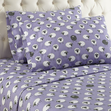 Micro Flannel® Sheep Lavender Sheet Set