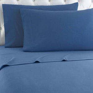 Micro Flannel® Smokey Mountain Blue Sheet Set