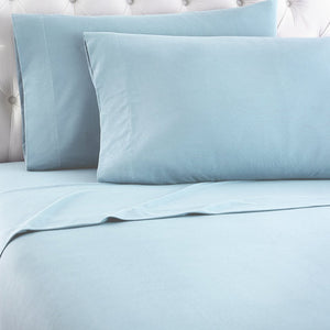 Micro Flannel® Spa Blue Sheet Set