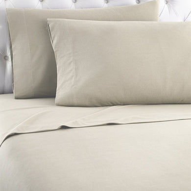 Micro Flannel® Taupe Sheet Set