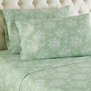 Micro Flannel® Toile Celadon Sheet Set