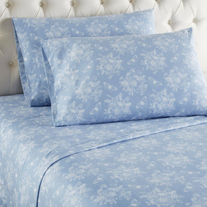 Micro Flannel® Toile Wedgewood Sheet Set