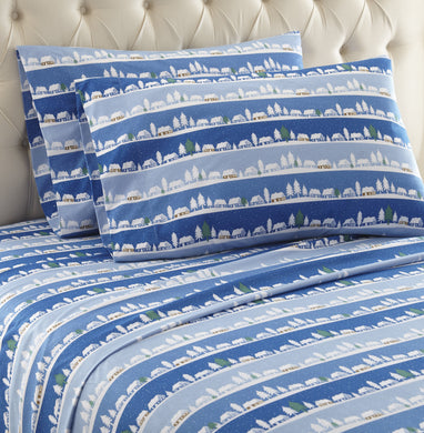 Micro Flannel® Winter Village Sheet Set