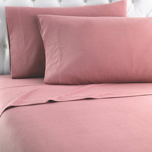 Micro Flannel® Frosted Rose Sheet Set