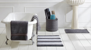 Bath in a Basket Set of 5 Gray