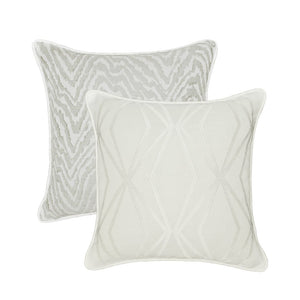 Santa Monica Collection 16 x 16 Throw Pillow - White