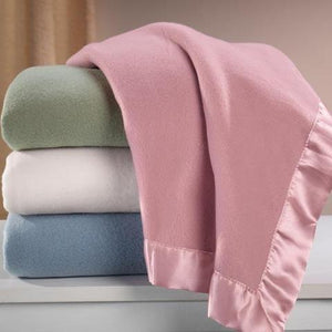 Satin Trimmed Fleece Blanket