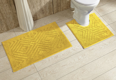 Trier Bath Rug Set Yellow