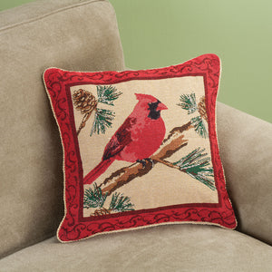 Cardinal Pillow Cover in use with your pillow