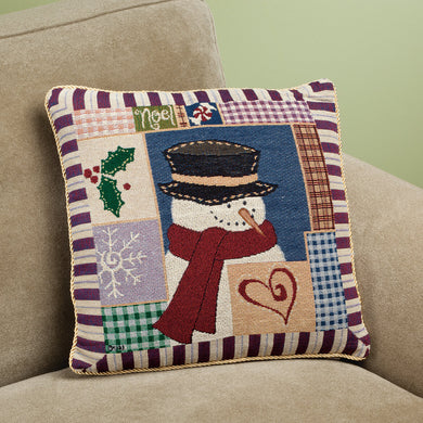 Snowman Pillow Cover in use with your pillow