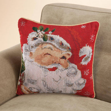 Santa Claus Pillow Cover in use with your pillow