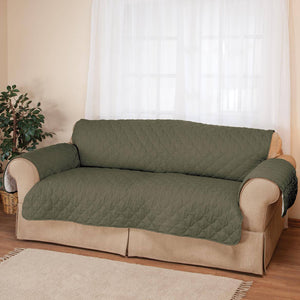 Deluxe Microfiber Sofa Cover by OakRidge sage
