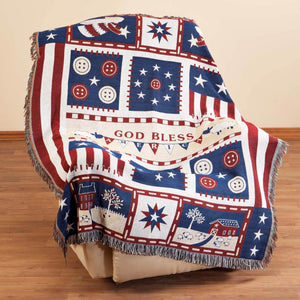Americana Blessings Tapestry Throw by OakRidge