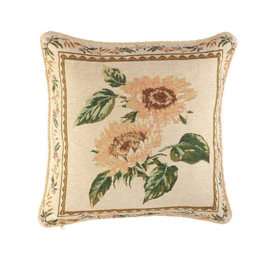 Sunflower Tapestry Pillow Cover in use