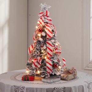 2-Ft. Candy Cane Frosted Pull-Up Tree by Holiday Peak™