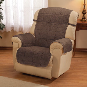 Bradley Sherpa Recliner Protecting Cover Brown