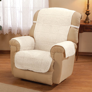 Bradley Sherpa Recliner Protecting Cover Ivory