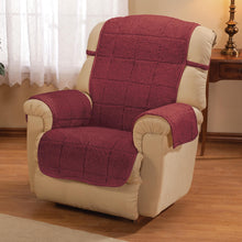 Bradley Sherpa Recliner Protecting Cover Burgundy