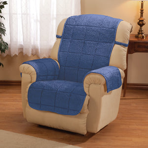 Bradley Sherpa Recliner Protecting Cover Blue