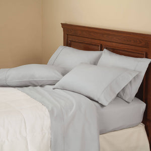 850 Thread Count Cotton Rich 6-Piece Twill Sheet Set - Grey