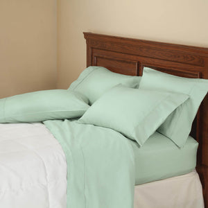850 Thread Count Cotton Rich 6-Piece Twill Sheet Set - Seafoam