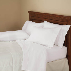 850 Thread Count Cotton Rich 6-Piece Twill Sheet Set - White