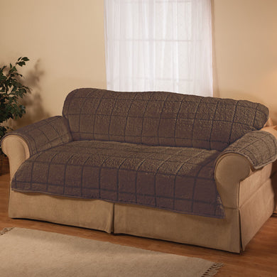Parker Water-Resistant Sherpa Loveseat Cover by OakRidge brown
