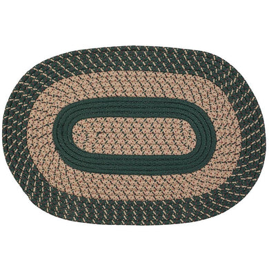 Two-Tone Country Braided Rug Spruce