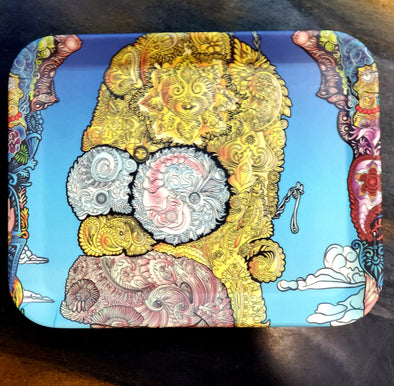 SIMPSONS FLORAL ACID  SMALL ROLLING TRAY