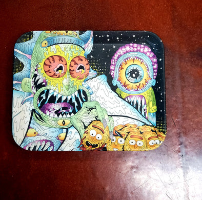 ACID RICK AND MORTY SMALL ROLLING TRAY