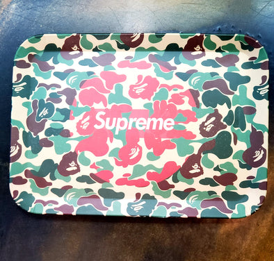 SUPREME GREEN CAMO ROLLING TRAY