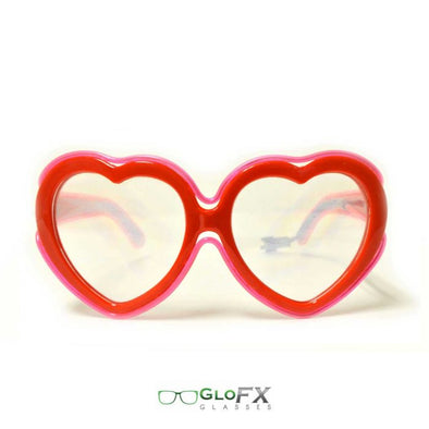 Red Heart Shaped Diffraction Glasses with Red Luminescence *w 3 mode inverter