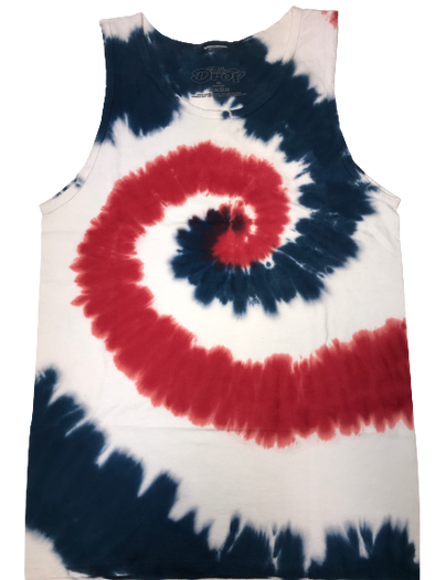 The Drop Tye Die Tank - Red/White/Blue Combo