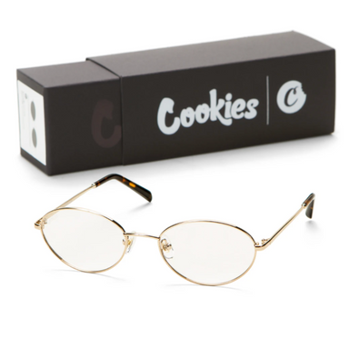 COOKIES METAL VINTAGE FRAMED CLEAR GLASSES GOLD / CLEAR
