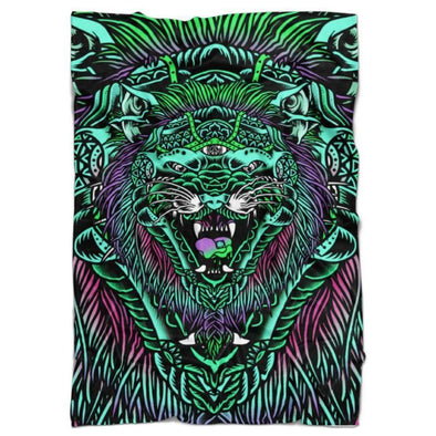 Set 4 Lyfe - ACID TIGER BLANKET - Clothing Brand - Blanket - SET4LYFE Apparel