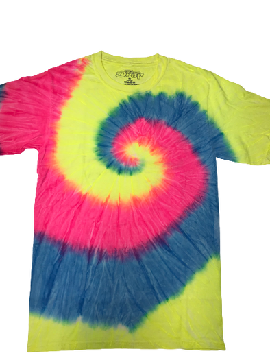 The Drop Tye Die T-Shirt - Neon Yellow/Blue/Pink