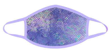 Purple Python Holographic Face Mask