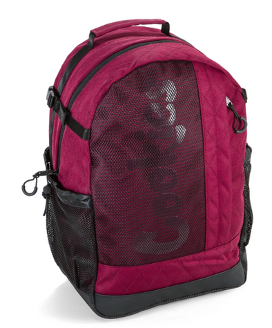 COOKIES SMELL PROOF MESH OVERLAY NYLON BACKPACK BURGANDY