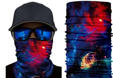3D Seamless Galaxy Balaclava Magic Face Cover Warmer Motorcycle Ski Neck Gaiter Sun Head Shield Durag Bandana Men Women Scarf