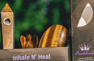 Handcrafted Tiger Eye Inhale N' Heal