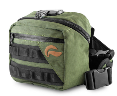 SKUNK GREEN DOUBLE ZIPPER  SMELL-PROOF BACK-PACK
