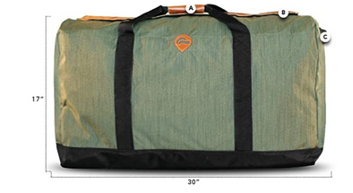 MIDNIGHT EXPRESS- LARGE DUFFLE- GREEN  W/ LEATHER