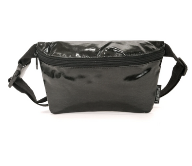 FYDELITY- Ultra-Slim Fanny Pack METALLIC Black