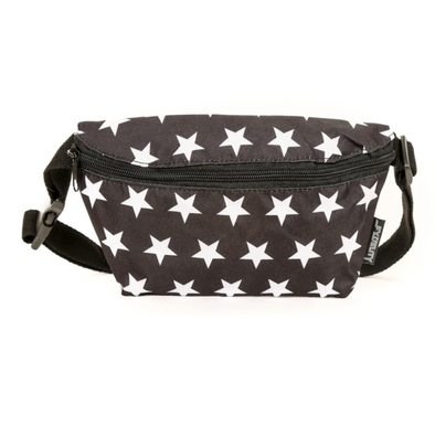 FYDELITY- XL Ultra-Slim Fanny Pack Black Star