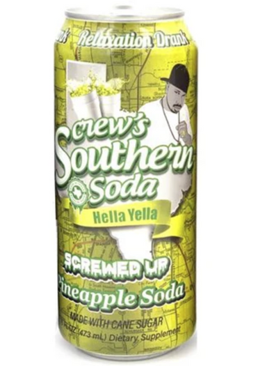 SCREW'S HELLA YELLA PINEAPPLE SODA EXOTIC POP