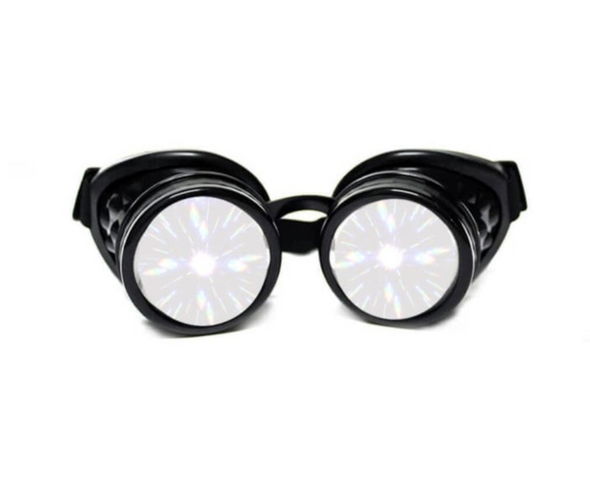 Glo-Fx Black Diffraction Goggles
