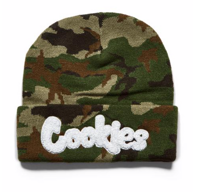COOKIES THIN MINT EMBROIDERED KNIT BEANIE - FOREST CAMO/BLACK