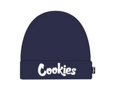 COOKIES THIN MINT EMBROIDERED KNIT BEANIE - NAVY/WHITE