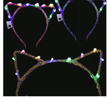 Flashing Cat Ears Headband