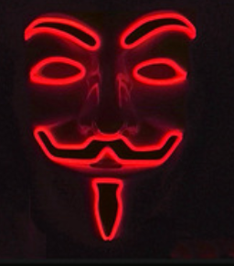 FAWKS MASK RED